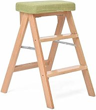 Kitchen Wooden Step Stool, Adults Solid Wood