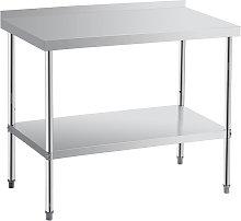 Kitchen Work Bench 60x90x85cm Silver Table