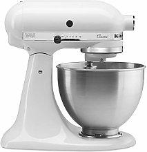 KitchenAid 5K45SSBWH Classic Stand Mixer, 4.3