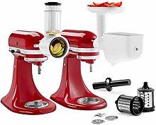 KitchenAid 5KSM2FPPC Stand Mixer Attachments Set,