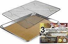KITCHENATICS Baking Sheet with Cooling Rack: Half