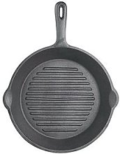 Kitchencraft 24 Cm Deluxe Cast Iron Round Ribbed