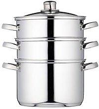 Kitchencraft 3-Tier 22 Cm Steamer - Stainless Steel