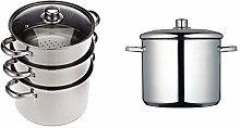 KitchenCraft 3 Tier Food Steamer Pan/Stock Pot in