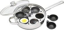 KitchenCraft 6 Egg Poacher Pan with Non Stick,