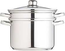KitchenCraft 7.5 L Clearview Stainless Steel Multi