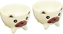 KitchenCraft Ceramic Dog-Shaped Novelty Egg Cups,