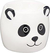 KitchenCraft Ceramic Panda-Shaped Novelty Egg Cup,