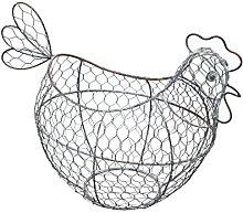 KitchenCraft Classic Egg Basket, Wire, 32 x 16 cm