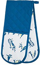 KitchenCraft Double Oven Gloves, Blue Birds