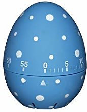 KitchenCraft Egg Timer - Blue & White Polka Dots -