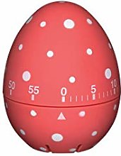 KitchenCraft Egg Timer - Red & White Polka Dots -