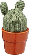 KitchenCraft KCEGGCACTI Egg Cup, Green/Brown