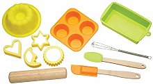 KitchenCraft Kids Baking Set with Silicone Baking
