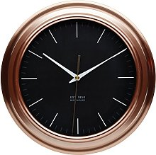 KitchenCraft Kitchen Wall Clock with Copper Effect