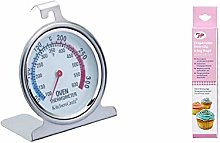 KitchenCraft Stainless Steel Oven Thermometer, 6.5