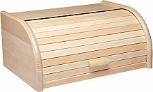 KitchenCraft Wooden Bread Bin with Roll Top Lid,