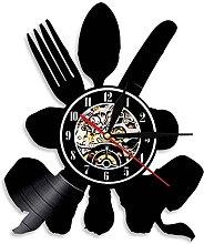 Kitchenware Art Deco Wall Clock Retro Modern