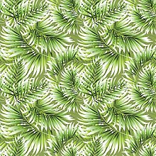 Kitchenwise PVC Tablecloth Jungle Leaves 3 Metres