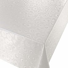 Kitchenwise PVC Tablecloth Lunar White 3.5 Metres