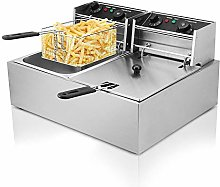 KITGARN 2x10L Deep Fryer Stainless Steel