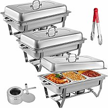 KITGARN 3 Packs Stainless Steel Chafing Dishes 3 1