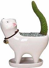 Kitten Ceramic Plant Pot Flower Pot Cartoon cat