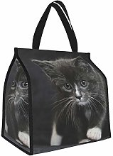 Kitten Gray Lunch Tote Bags Insulated Lunch Box