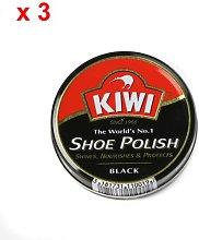 Kiwi Black Shoe Polish 100ml x 3 Tins