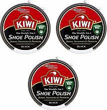 Kiwi Black Shoe Polish 50ml x 3 Tins