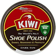 Kiwi Dark Tan Shoe Polish (50ml) - Pack of 2