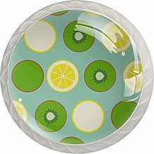Kiwi Lemon Pattern Drawer Knobs Pulls Cabinet