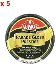 Kiwi Parade Premium Black Shoe Polish 50Ml x 5 Tins