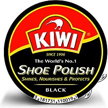 KIWI SHOE POLISH BLACK 50ML PK12