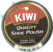 Kiwi shoe polish dark tan large 12