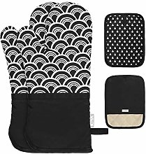 KIYA Oven Gloves and Pot Holders - Extra Thicken