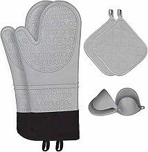 Kiya Silicone Heat Resistant Oven Gloves, Trivets