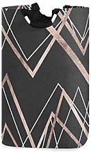 KJKT Laundry Hamper Laundry Basket Rose Gold Black