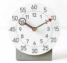 KK Timo White Pink Sleek Minimalist Desktop Clock
