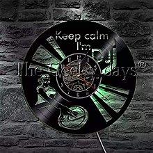kkkjjj DJ vinyl record wall clock modern rock