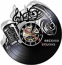 kkkjjj Music wall art treble clef vinyl record