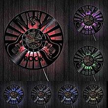 kkkjjj Rock musician wall hanging art wall clock