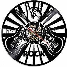 kkkjjj Rocker logo wall hanging art wall clock