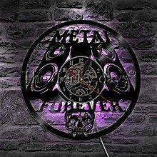 kkkjjj Vinyl Record Wall Clock Metal Forever Rock