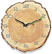 KKLLHSH 12 Inch Vintage Wooden Clock Cafe Office