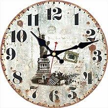 KKLLHSH Kitchen Wall Clock Bridge Silent Non