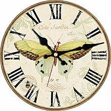 KKLLHSH Kitchen Wall Clock Butterfly Silent Non