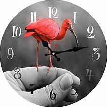 KKLLHSH Rustic Wooden Clock, Vintage Wall Clock,