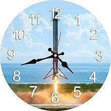 KKLLHSH Rustic Wooden Clock,Vintage Wall Clock,