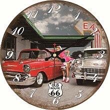 KKLLHSH Shabby Chic,Seahorse Wall Clocks,Vintage